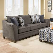 Transitional Sofas Furniture United Furniture Industries 6485 Transitional Sofa With Wood Legs