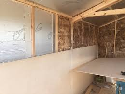 insulation and boarding out under way studio workshop ideas
