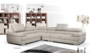 Gray Leather Sectional Sofas 2119 Leather Sectional Sofa In Light Grey Free Shipping Get