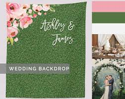 wedding backdrop green grass backdrop etsy