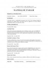 Photographers Resume Sample by Resume For A Photographer Freelance Photographer Resume Freelance