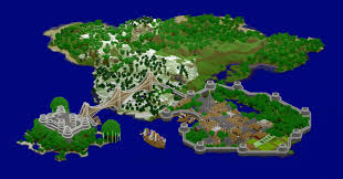 Medieval Maps Medieval Island Map Fortress Port City Ships Minecraft Project