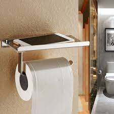 solid chrome bathroom toilet paper holder roller wall tissue rack