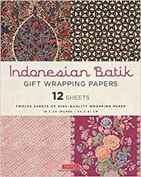 batik gift wrapping papers 12 sheets of high quality