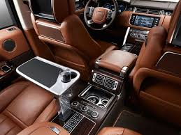 luxury jeep interior here s what you get when you pay for the top of the line range rover