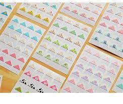 wholesale photo albums 24 pcs sheet diy floral print corner paper stickers for photo