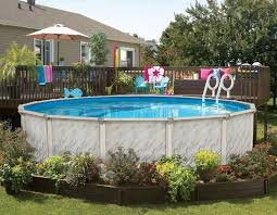 Backyard Pool Pictures 95 Best Above Ground Pool Landscaping Images On Pinterest