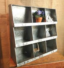 Cubby Wall Shelf by Galvanized Wall Cubby Organizer Art Angels Market
