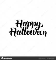 happy halloween white background halloween schriftzug u2014 stockvektor 131848408