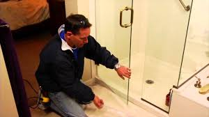 Sealing A Shower Door Replacing An Glass Shower Sweep Mobile Diy
