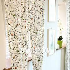 beige cute girls room fun fancy trendy half price floral curtains