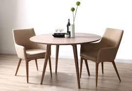 livia modern round dining table walnut miliboo