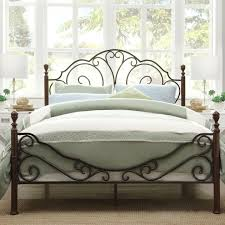 simple king metal bed frame headboard footboard suitable for