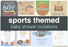sports themed baby shower invitations shower that baby