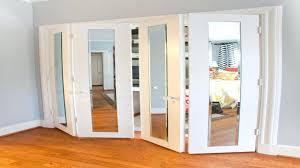 Mirrored Folding Closet Doors Closet Contemporary Bi Fold Closet Doors Floor To Ceiling Closet