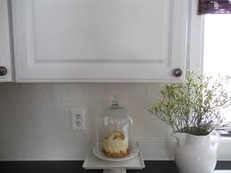 White Kitchen Tile Backsplash Diy Painting A Ceramic Tile Backsplash