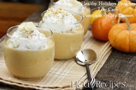 thanksgiving pumpkin whip low carb dessert recipe