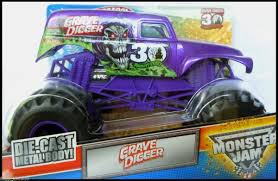 grave digger 30th anniversary monster truck toy wheels monster jam truck purple grave digger 1 24 30th