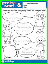 greetings and names worksheet 3 english step by step 1st