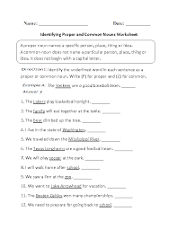 bunch ideas of common nouns proper nouns and pronouns worksheets