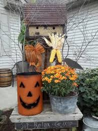Outdoor Decorations For Fall - i decided we needed a fall decoration so after the flowers died