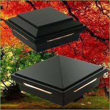 lighting maine ornamental solar post cap light 6x6 deckorators
