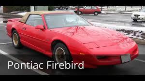 pontiac sports car greatest sports cars from 70 u0027s and u002780s pontiac firebird youtube