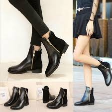 s boots style european style ankle zipper martin boots low