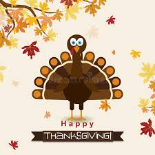 template greeting card with a happy thanksgiving turkey vector