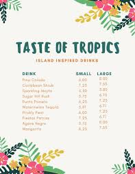 drink menu templates canva