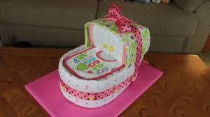 Diaper Cake Bathtub Bassinet Diaper Cake How To Make Youtube
