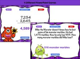 digit subtraction with regrouping games 4 monster themed
