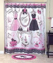 unique glamour 6 pcs ladies u0027 room set shower curtain and bath