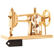 24k gold plated studded sewing machine