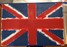 Flag White With Red Cross British Flag Serving Tray Diy Tutorial Before And After