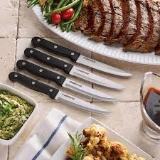 kitchen knives that never need sharpening farberware never need sharpening 4 piece 4 5 inch steak knife set