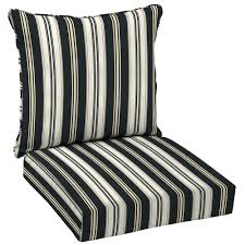 Black Patio Chairs by Outdoor Lounge Chair Cushions Canada Ticking Stripe 2 Piece Deep