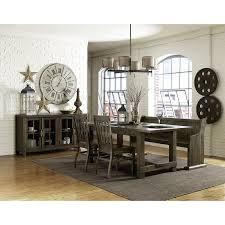 magnussen bellamy dining table magnussen bellamy 4pc rectangular dining table set in deep