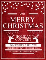 customizable design templates for christmas concert postermywall
