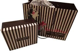 brown tissue paper henri bendel brown white empty gift box shopping bag ribbon and
