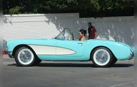vintage corvette blue kendall jenner takes a spin in her vintage corvette