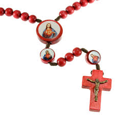 my rosary wood sacred heart rosary my rosary