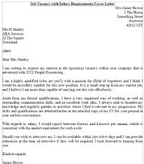 sample cover letter with salary expectations 8621