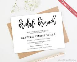 brunch invitation template modern bridal brunch invitation template printable bridal shower