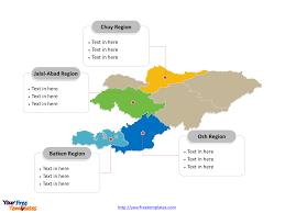 Kyrgyzstan Map Free Kyrgyzstan Editable Map Free Powerpoint Templates