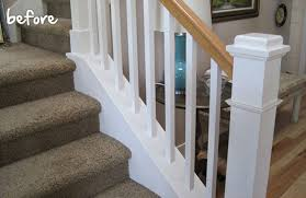 Sanding A Banister My Stairway Makeover Painting A Stairway Tips Home Decorating