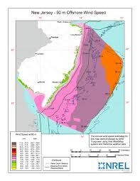 New Jersey Map Windexchange New Jersey Offshore 90 Meter Wind Map And Wind