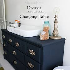 Dresser As Changing Table Dresser To Changing Table Upcycle Atkinson Drive