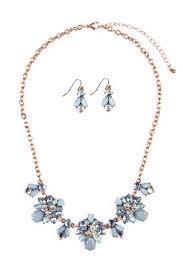 light blue statement necklace necklaces riah fashion