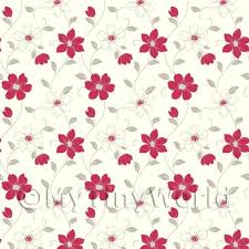 wallpaper for house dolls house miniature wallpaper dolls house miniature 6 petal red